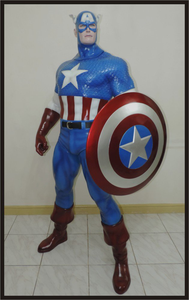 SALE: Custom Made Life Size Classic Captain America Superhero Statue Prop