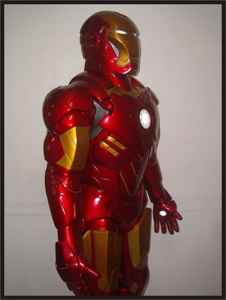 Custom Made Life Size Iron Man Mk4 Superhero Statue Prop