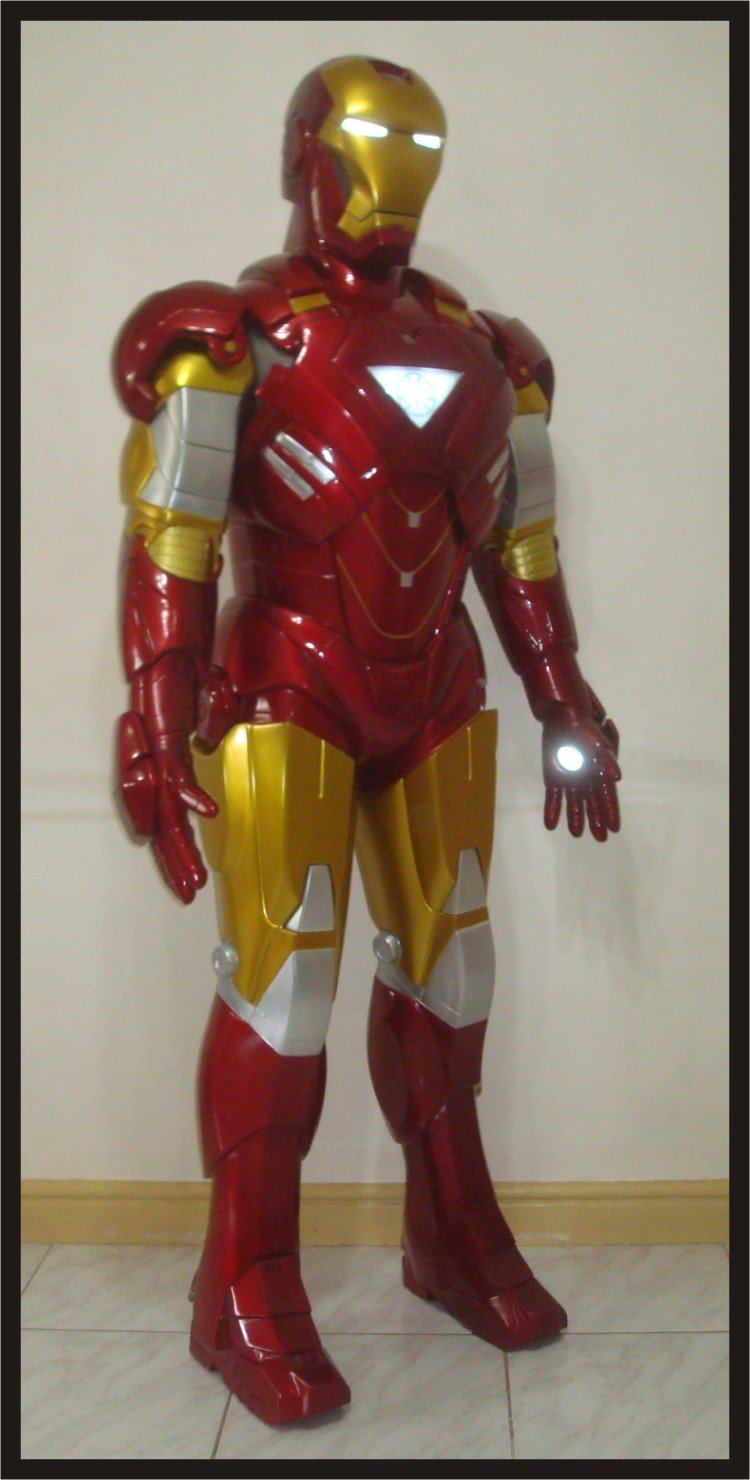 Custom Made Life Size Iron Man Mk6 Superhero Statue Prop