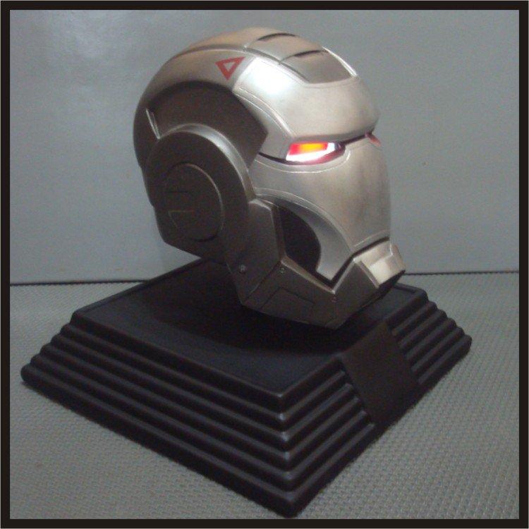 Custom Made Iron Man War Machine Mk-001 Life size Helmet Superhero Prop