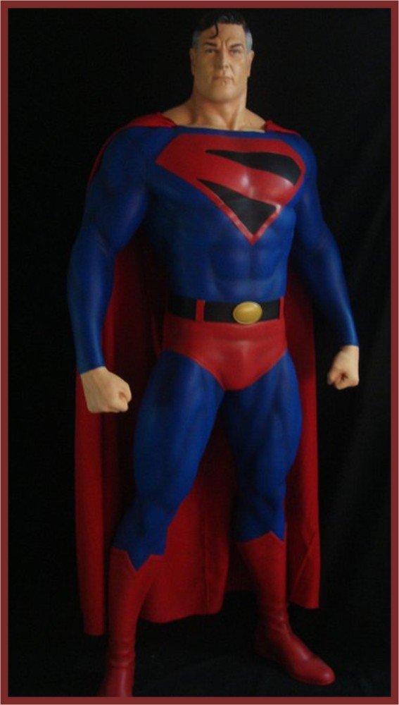 Custom Made Life Size Alex Ross Superman Kingdom Come Superhero Statue Prop