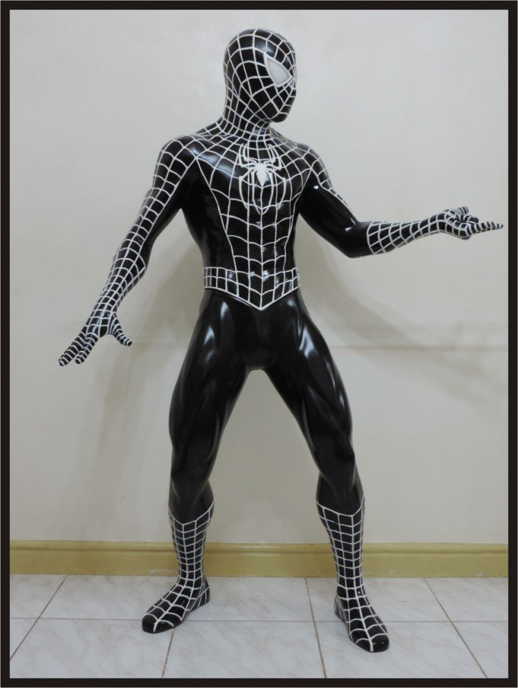 Custom Made Life Size Tobey Maguire Deluxe Black Spiderman Spinning Web Statue Prop Payment #1 of 2