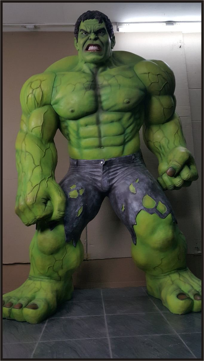 Custom Made Life Size Hulk #2 Superhero Statue Prop