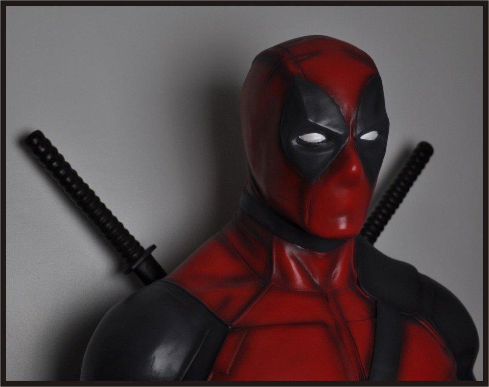 Custom Made Life Size Deadpool Superhero Statue Prop