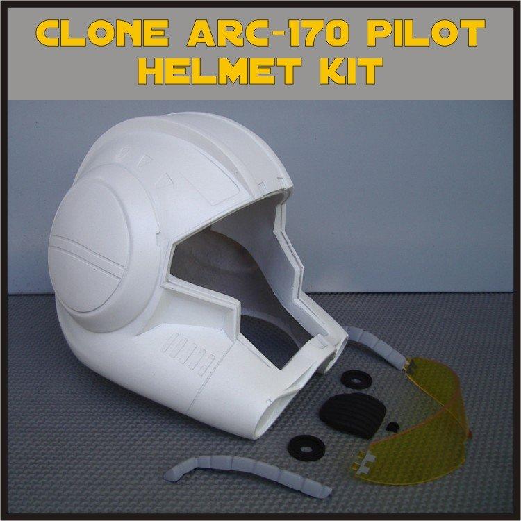 Custom Made Star Wars Clone Trooper ARC-170 Pilot Life Size Helmet Prop Kit