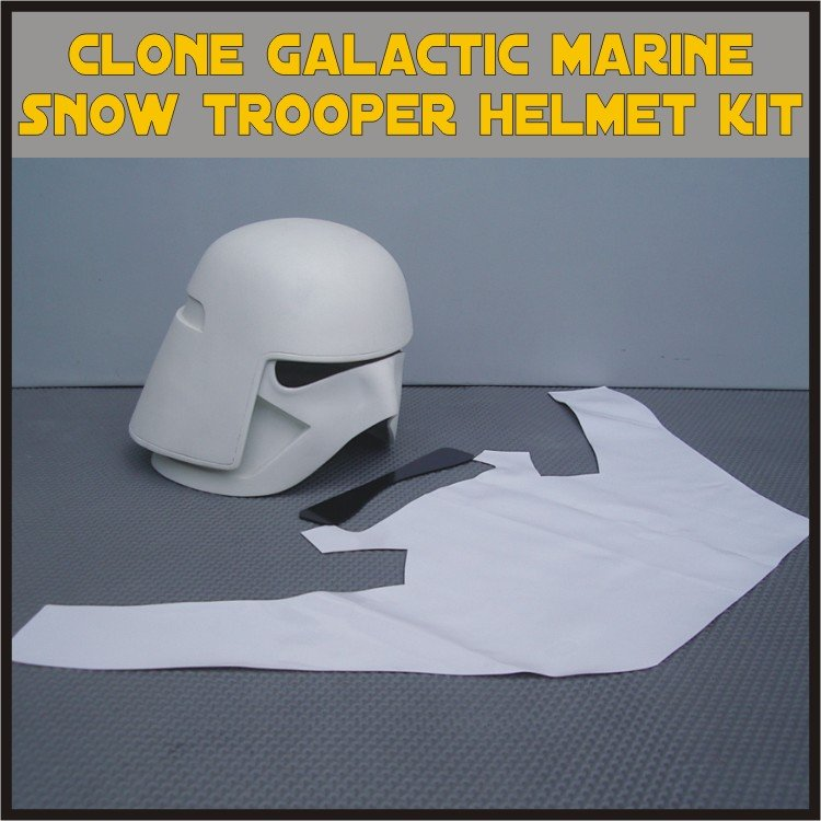 Custom Made Star Wars Clone Galactic Marine Trooper Cody Life Size Helmet Prop Kit