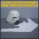 Custom Made Star Wars Clone Galactic Marine Trooper Cody Life Size Helmet Prop Kit