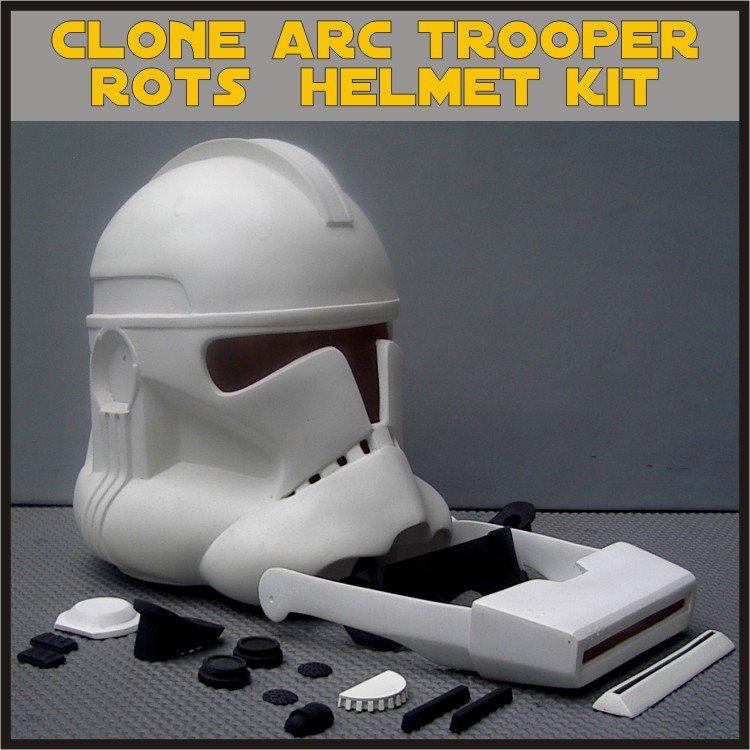 Custom Made Star Wars Clone ARC Trooper ROTS Life Size Helmet Prop Kit