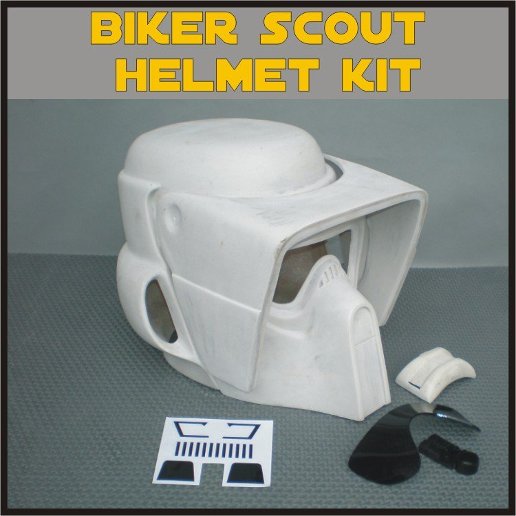 Custom Made Star Wars Biker Scout Trooper Life Size Helmet Prop Kit