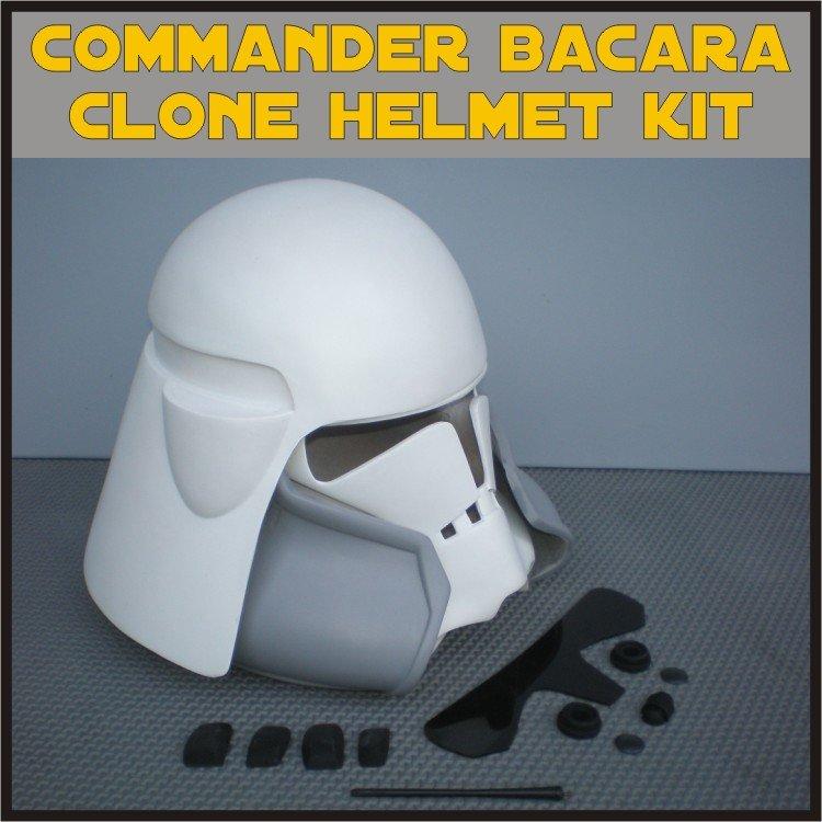 Custom Made Star Wars Clone Trooper Commander Bacara Life Size Helmet Prop Kit