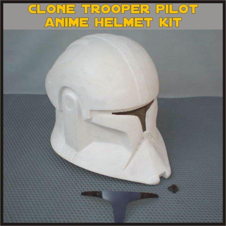 Custom Made Star Wars Clone Trooper TCW Anime Pilot Life Size Helmet Prop Kit