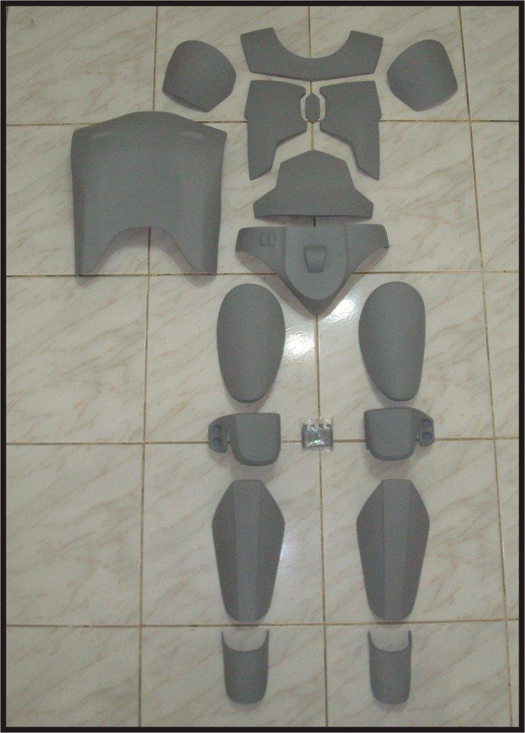 Custom Made Star Wars Jango Fett Mandalorian Body Armor Chest-Back-Cod-Knee Life Size Armor Prop Kit