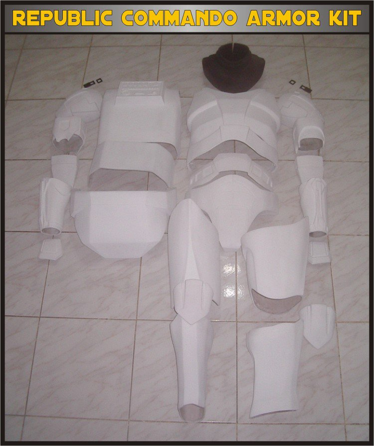 Custom Made Star Wars Clone trooper Republic Commando Armor Life Size Armor Prop Kit