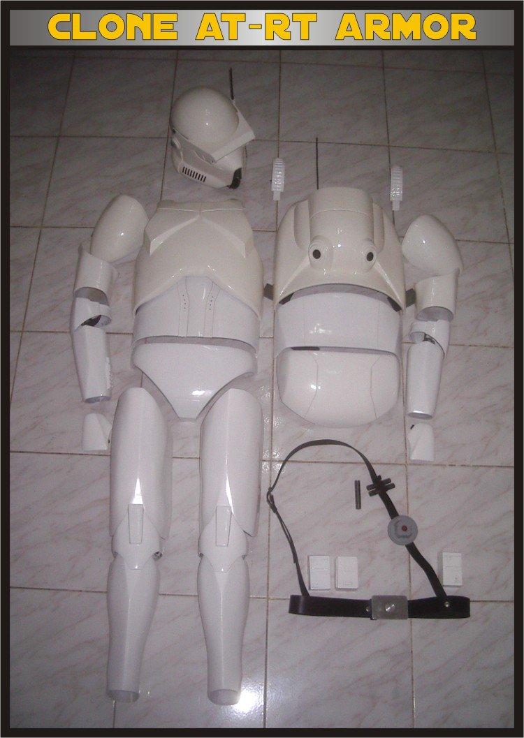 Custom Made Star Wars Clone trooper At-Rt Armor & Helmet Life Size Armor Prop Kit