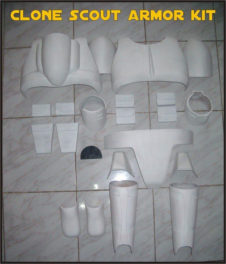 Custom Made Star Wars Clone trooper Scout Life Size Armor Prop Kit