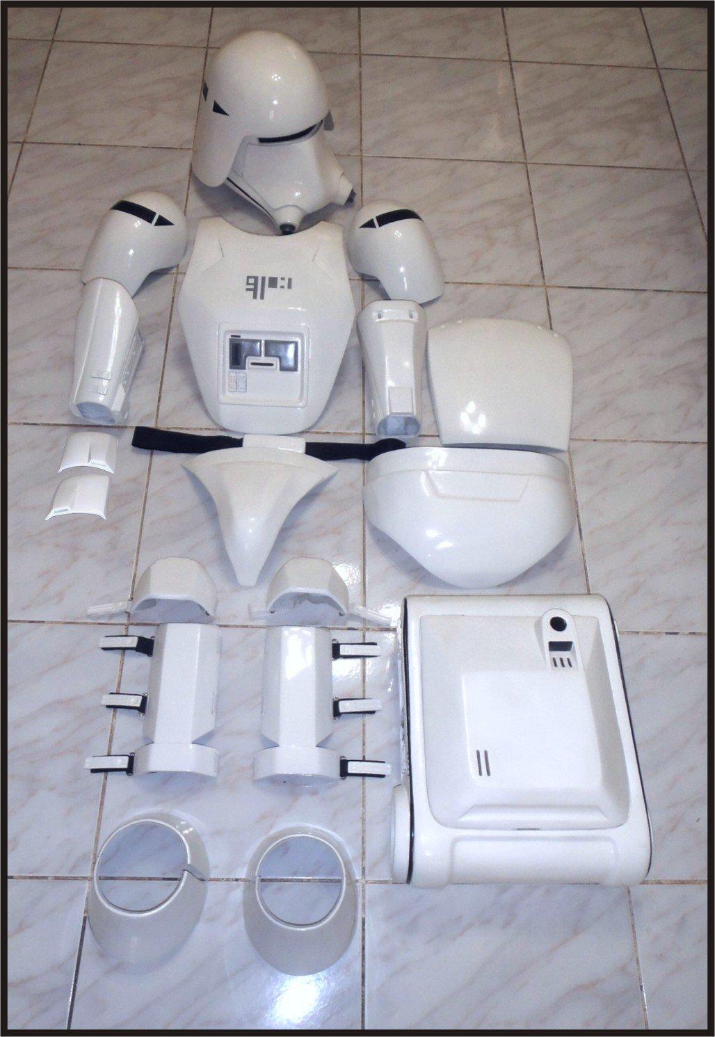 Custom Made Star Wars TFA Snowtrooper Armor Life Size Armor and Helmet Prop