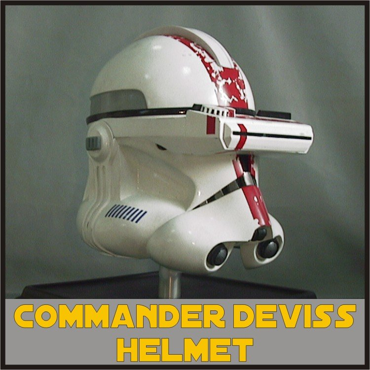 Custom Made Star Wars Clone Trooper Commander Bly Deviss Adult Size Helmet Prop