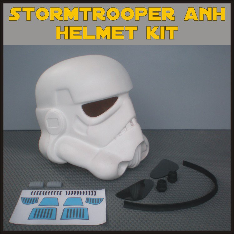 Custom Made Star Wars Stormtooper ANH/ESB Life Size Helmet Prop Kit