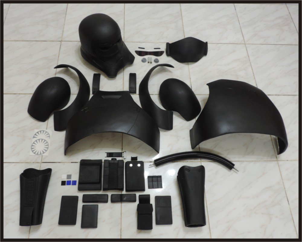 Custom Made Star Wars TFA TIE Helmet & Armor Life Size Armor Prop Kit