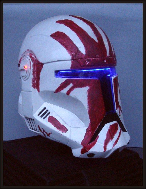 Custom Made Star Wars Clone Trooper Republic Commando Sev Adult Size Helmet Prop