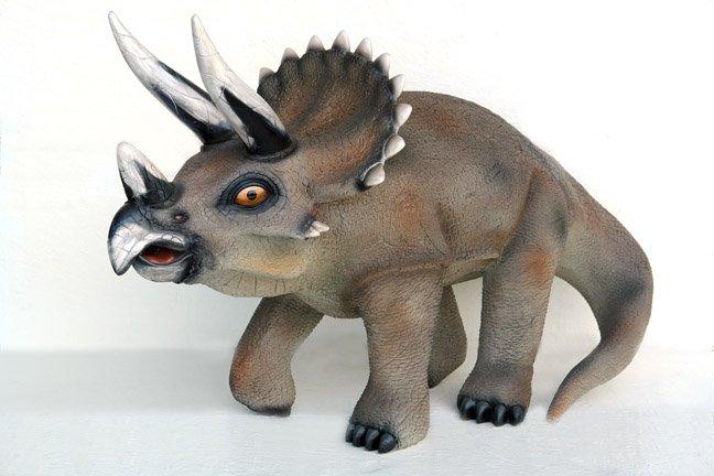 Custom Made Life Size Juvenile Triceratops Dinosaur Statue