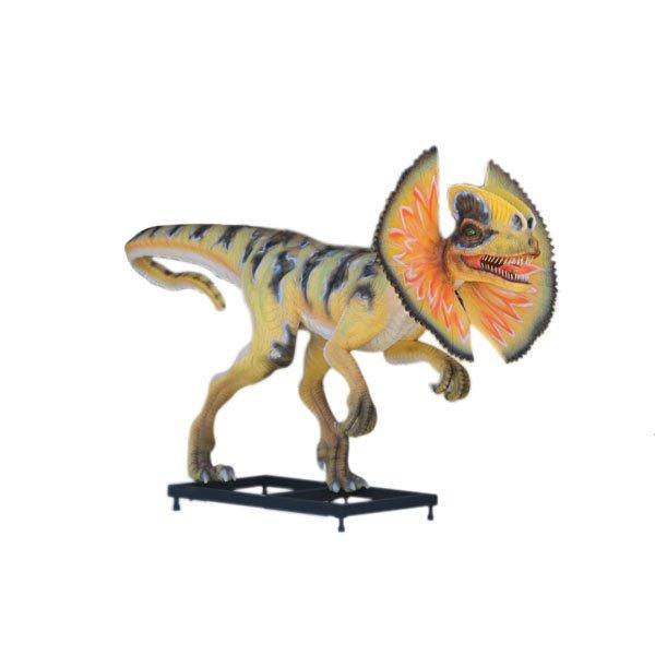 Custom Made Life Size Venenifer/Jurassic Park Frilled Dilophosaurus 10' Dinosaur Statue