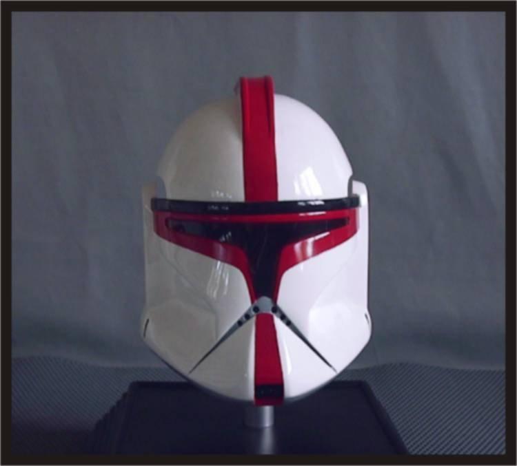 Custom Made Star Wars Clone Trooper AOTC Captain Adult Size Helmet Prop