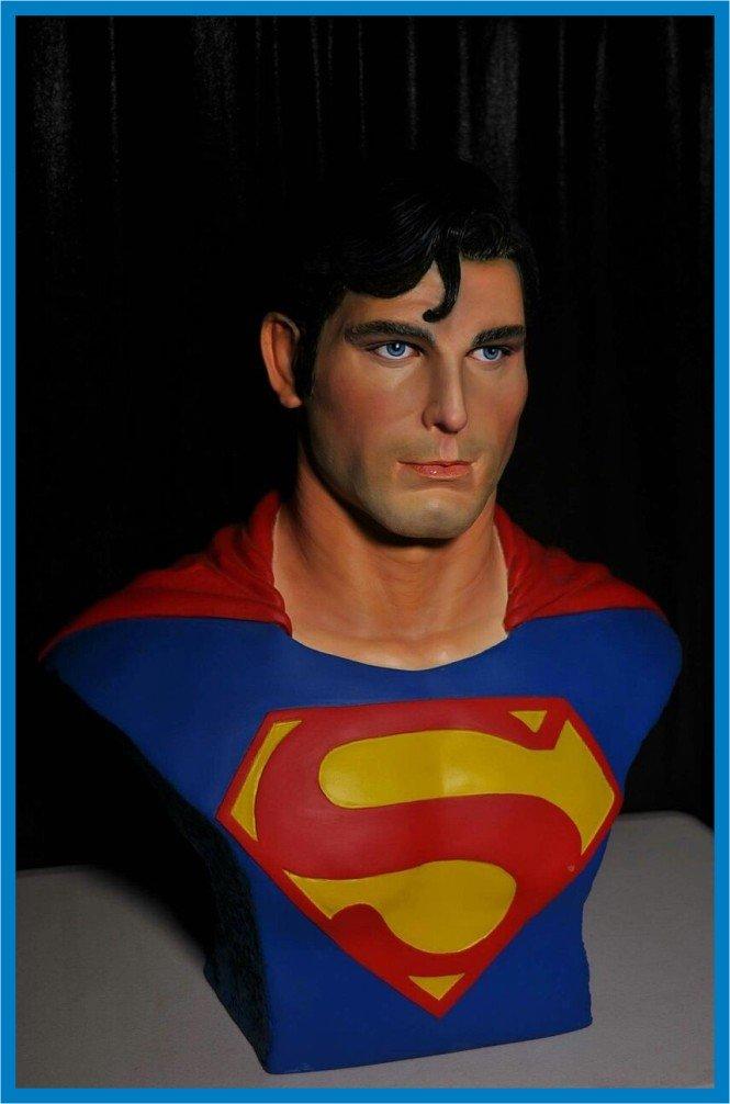 Custom Made Life Size Christopher Reeve Superman Superhero Bust Figure Prop
