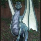 Custom Made Dragon on Padestal 7' Statue SCA-LARP