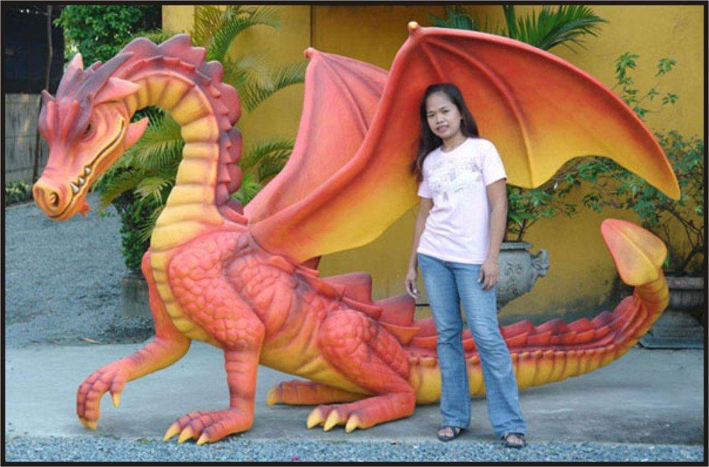 Custom Made Life Size 6' tall 12' long Dragon Statue SCA-LARP