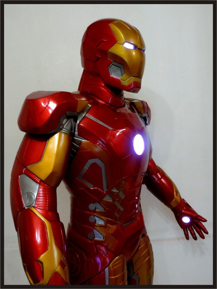 Custom Made Life Size Iron Man Mk43 Superhero Statue Prop