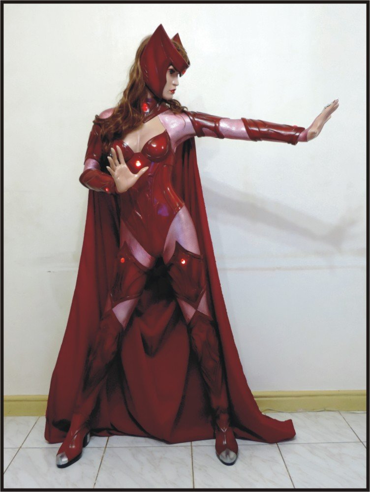 Custom Made Life Size Deluxe Scarlet Witch Deluxe Super Hero Statue Prop