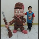 Custom Made Life Size Elmer The Wabbit Hunter Fudd Statue Prop
