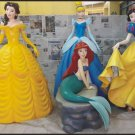 Custom Made Life Size Fairytale Princesses Statue Prop Set