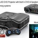 bundle Projector DVD Player Built In + Speaker - LED 800x600 TV, and AV Inputs
