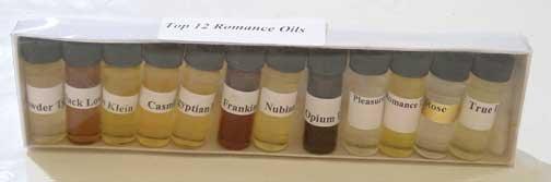 ROMANCE SET of FRAGRANCE OILS  1/8 oz  (1 dram)