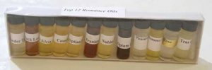 ROMANCE SET of FRAGRANCE OILS  1/8 oz  (1 dram)