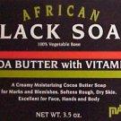 NATURAL BLACK SOAP w/VITAMIN E
