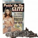 Puttin' on the Glitz Crotchless Panties