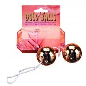 Gold Kegal Ben Wa Balls On A String!