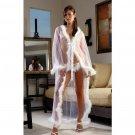 G World Sheer Sexy Marabou Robe & G-String Set!