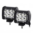 (2pcs/set) 4 inch 18W CREE Spot Beam Dual Row Off Road LED Work Light Bar