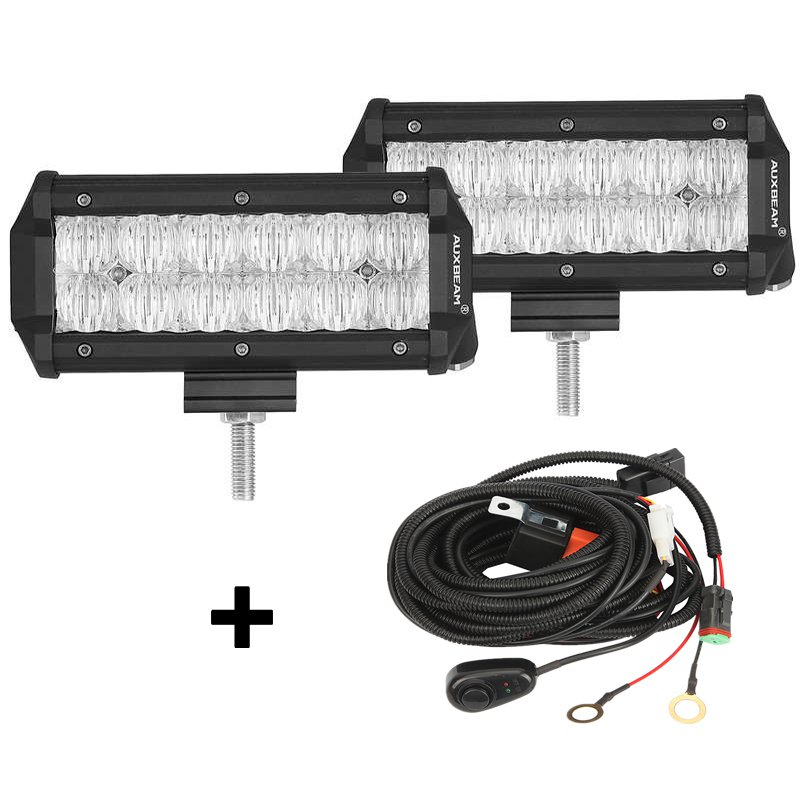 (2pcs/set) 7 inch 36W CREE Flood Beam Offroad Truck LED Light Bar (5D Projector Lens)