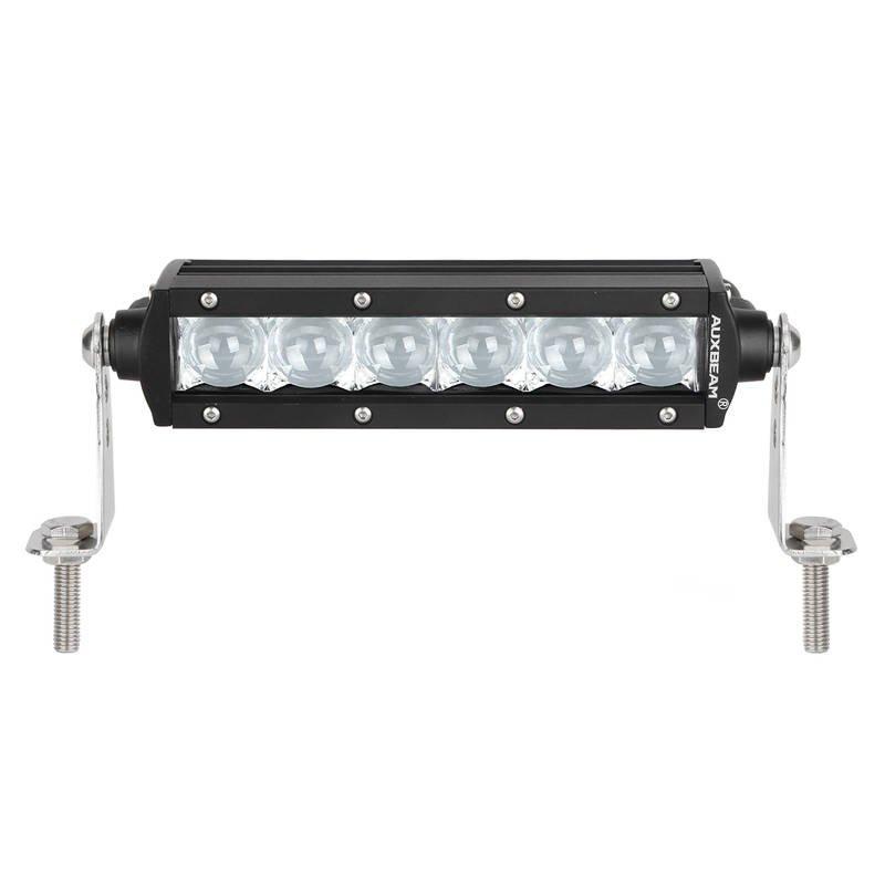 8 inch 18W CREE Spot Beam Straight Single Row LED Light Bar(5D Projector Lens)