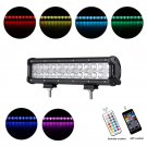 Cross-2 Series 12 inch 72W RGB Straight Combo Beam LED Light Bar (RGB Cross-style DRL)