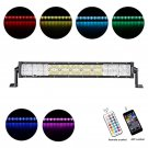 Cross-2 Series 22 inch 120W RGB Straight Combo Beam LED Light Bar (RGB Cross-style DRL)