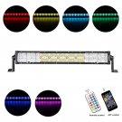 Cross-2 Series 22 inch 120W RGB Straight Combo Beam LED Light Bar (RGB Cross-style DRL)