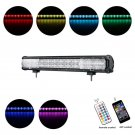 Cross-2 Series 23 inch 144W RGB Straight Combo Beam LED Light Bar (RGB Cross-style DRL)