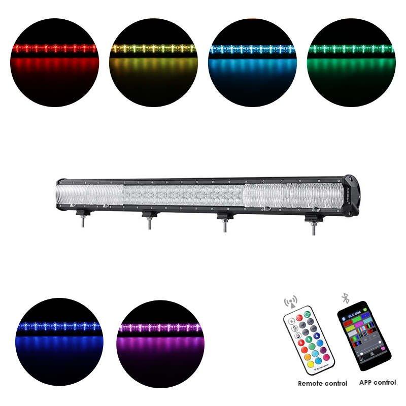 Cross-2 Series 40 inch 252W RGB Straight Combo Beam LED Light Bar (RGB Cross-style DRL)