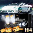 (2PCS/SET) F-16 SERIES H4/9003/HB2 HI-LO BEAM LED HEADLIGHT CONVERSION BULB